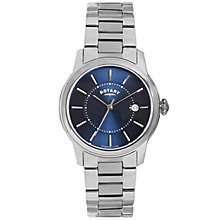 Rotary Men's Blue Dial Stainless Steel Bracelet Watch - Product number 5057434