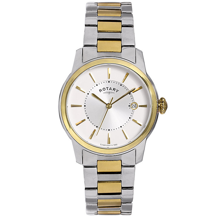 Rotary Men's 2 Colour Stainless Steel Bracelet Watch - Product number 5057442