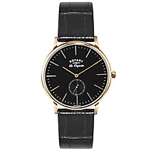 Rotary Les Originales Men's Black Leather Strap Watch - Product number 5057868