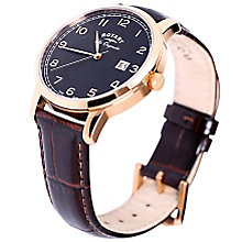 Rotary Les Originales Men's Brown Leather Strap Watch - Product number 5057914