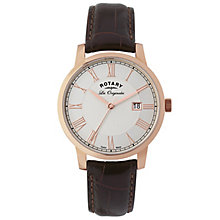Rotary Les Originales Men's Brown Leather Strap Watch - Product number 5057922