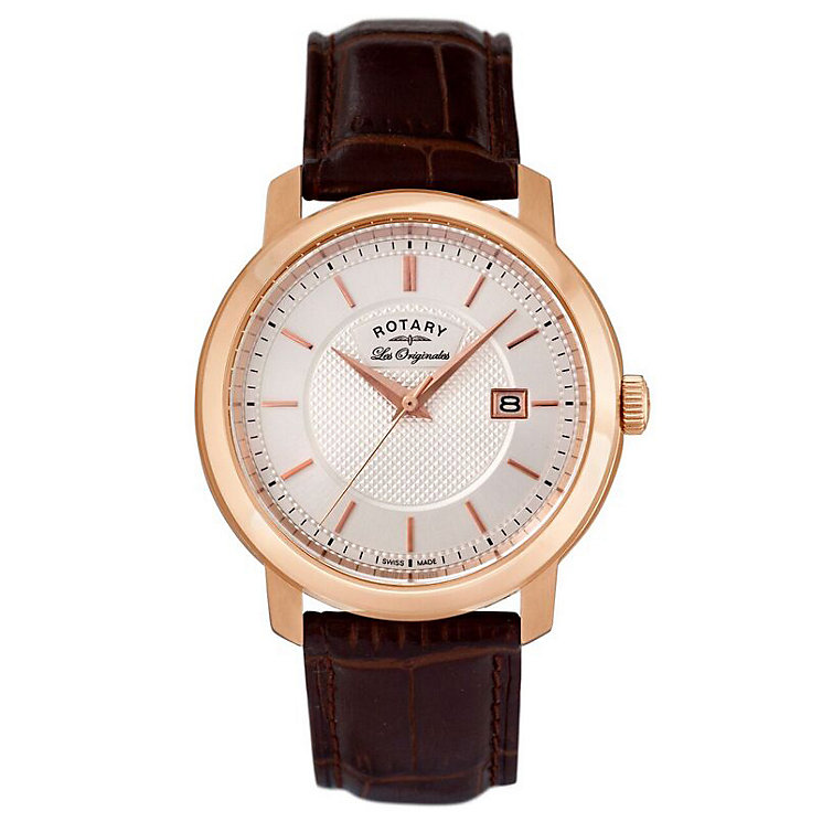Rotary Ladies' Brown Leather Strap Watch - Product number 5057930