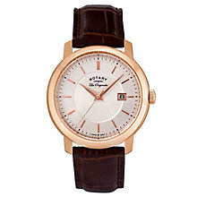 Rotary Les Originales Men's Brown Leather Strap Watch - Product number 5057930