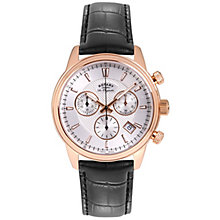 Rotary Les Originales Men's Black Leather Strap Watch - Product number 5058007