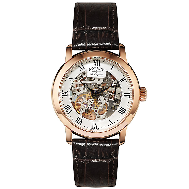 Rotary Les Originales Men's Brown Leather Strap Watch - Product number 5058058