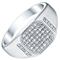 Men's 9ct White Gold 0.33ct Diamond Signet Ring - Product number 5062047