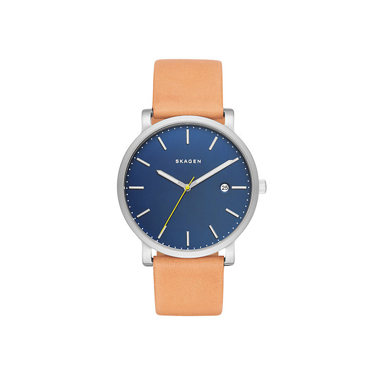Skagen Blue Dial Brown Leather Strap Watch - Product number 5062578