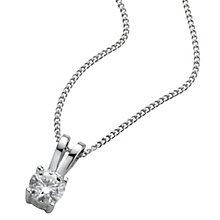 18ct White Gold 0.25ct H/I P1 Diamond Pendant - Product number 5062608