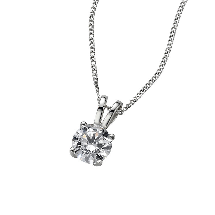 18ct White Gold 0.66ct H/I P1 Diamond Pendant - Product number 5062632