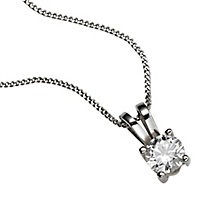 18ct White Gold 0.33ct G/H SI1 Diamond Pendant - Product number 5062667