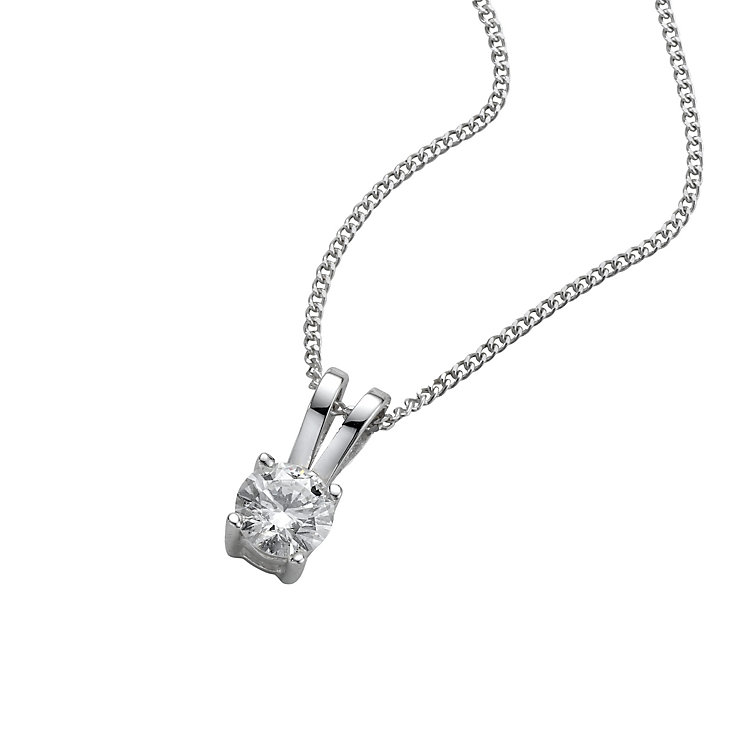 18ct White Gold 0.25ct G/H SI1 Diamond Pendant - Product number 5062675