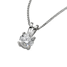 18ct White Gold 0.50ct G/H SI1 Diamond Pendant - Product number 5062691