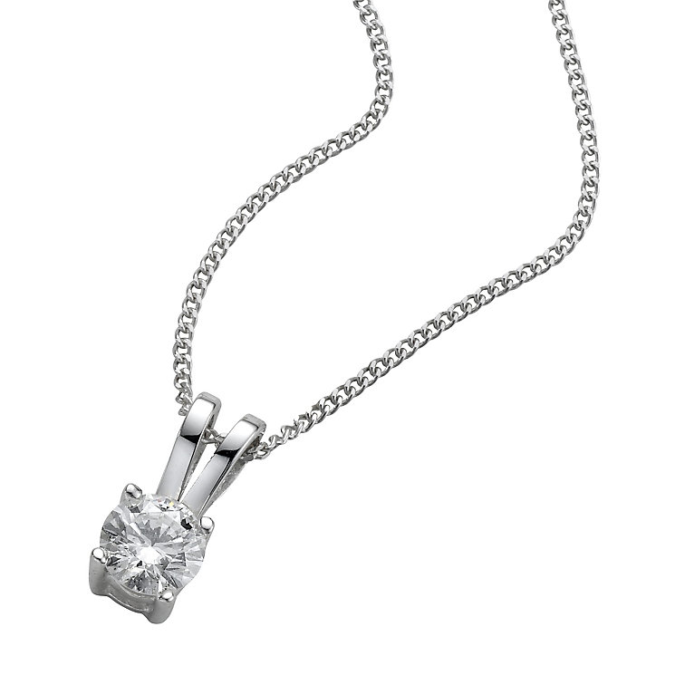 18ct White Gold 0.25ct H/I SI2 Diamond Pendant - Product number 5062705