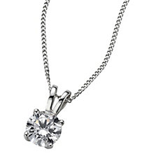 18ct White Gold 0.66ct H/I SI2 Diamond Pendant - Product number 5062748