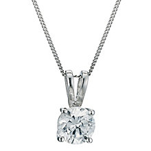 18ct White Gold 0.75ct H/I SI2 Diamond Pendant - Product number 5062756