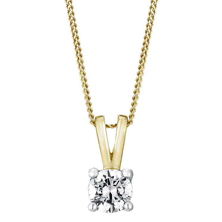 18ct yellow gold 0.40ct H/I P1 Diamond pendant - Product number 5062918