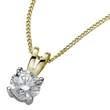 18ct yellow gold 0.50ct H/I SI2 Diamond pendant - Product number 5063493
