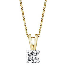 18ct yellow gold 0.40ct F/G VS2 Diamond pendant - Product number 5063582