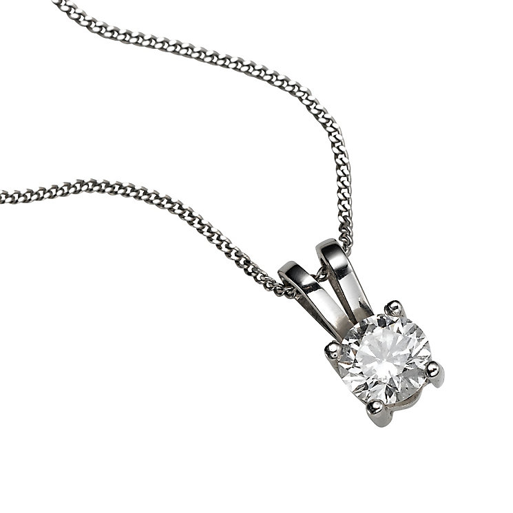 Platinum 0.33ct diamond pendant necklace - Product number 5063612