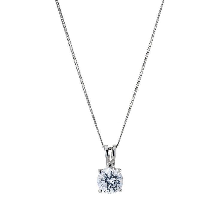 Platinum 1ct solitaire pendant - Product number 5063744
