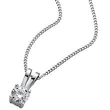 Platinum 0.25ct H/I P1 Diamond pendant - Product number 5063752