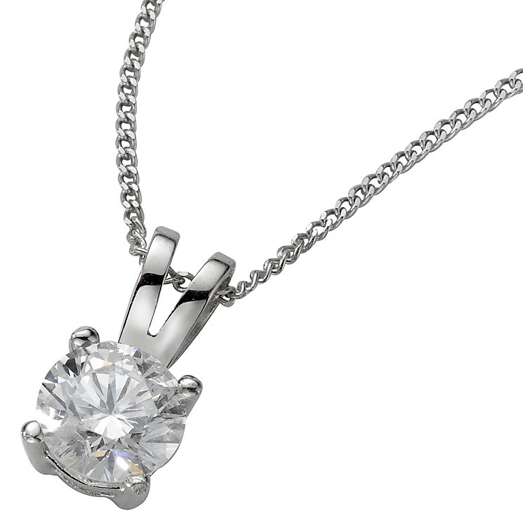 Platinum 0.50ct H/I P1 Diamond pendant - Product number 5063787