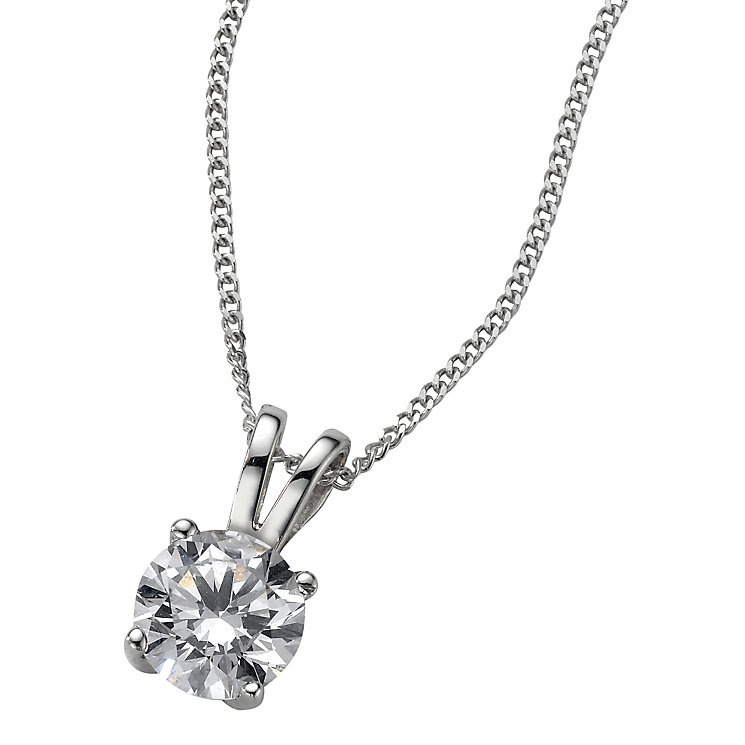 Platinum 0.66ct H/I P1 Diamond pendant - Product number 5063809