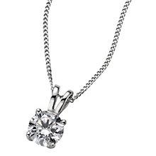 Platinum 0.66ct H/I P1 Diamond pendant - Product number 5063809