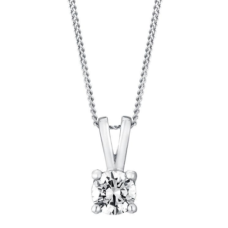 Platinum 0.40ct G/H SI1 Diamond pendant - Product number 5064104