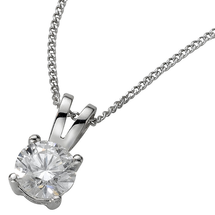Platinum 0.50ct H/I SI2 Diamond pendant - Product number 5064562