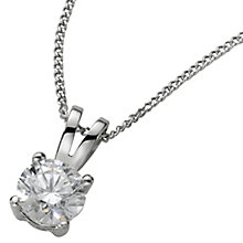 Platinum 0.50ct H/I SI2 Diamond pendant - Product number 5064562