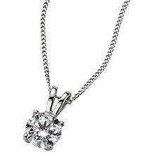 Platinum 0.66ct H/I SI2 Diamond pendant - Product number 5064570