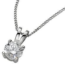Platinum 0.50ct F/G VS2 Diamond pendant - Product number 5064880