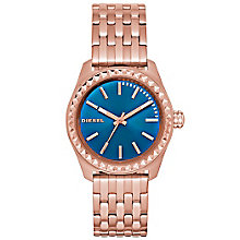Diesel Ladies Kray Kray Blue Dial Rose Bracelet Watch - Product number 5065232