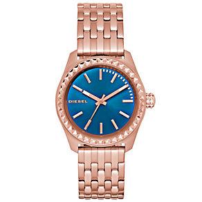 Diesel Ladies Kray Kray Blue Dial Rose Bracelet Watch - Product number 5065232