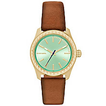 Diesel Ladies Kray Kray Green Dial Brown Leather Strap Watch - Product number 5065240