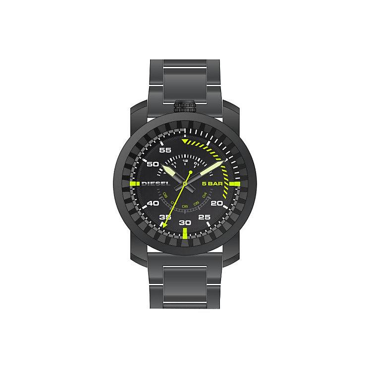 Diesel Mens Rig Gunmetal Dial & Bracelet Watch - Product number 5065267