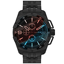 Diesel Mens Heavyweight Black Iridesent Dial Bracelet Watch - Product number 5065291