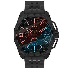 Diesel Mens Heavyweight Black Iridesent Dial Bracelet Watch - Product number 5065291