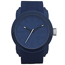Diesel Mens Double Down Blue Dial And Silicone Strap Watch - Product number 5065305