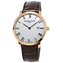 Frederique Constant Men's Rose Gold Plated Strap Watch - Product number 5065313
