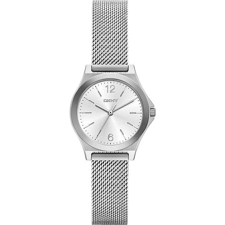 DKNY Ladies' Silver Dial Stainless Steel Mesh Bracelet Watch - Product number 5065496