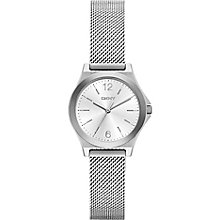 DKNY Ladies' Silver Dial Stainless Steel Mesh Bracelet Watch - Product number 5065496