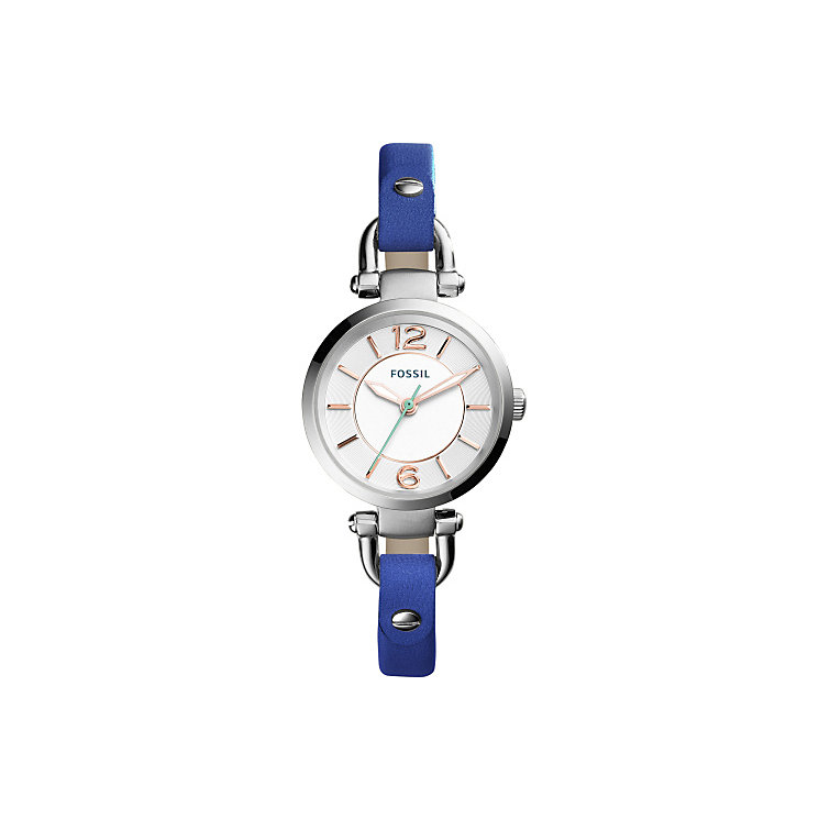 Fossil Georgia Mini Ladies' Indigo Leather Strap Watch - Product number 5065658