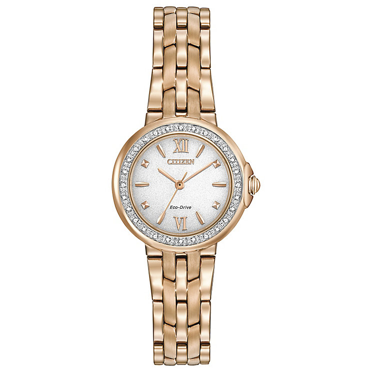 Citizen Eco Drive Ladies' Rose Gold Plated Bracelet Watch ...