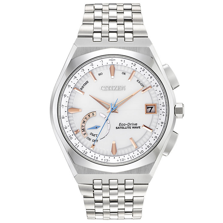 Citizen Eco Drive Satellite Wave Men's Bracelet Watch - Product number 5066980