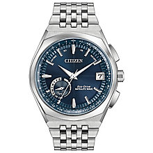 Citizen Satellite Wave Men's Stainless Steel Bracelet Watch - Product number 5066999