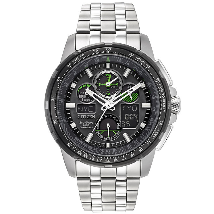 Citizen Skyhawk A.T Men's Stainless Steel Bracelet Watch - Product number 5067006