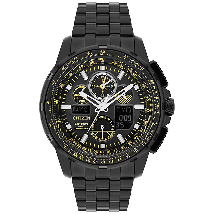 Citizen Skyhawk A.T Men's Ion Plated Bracelet Watch - Product number 5067871