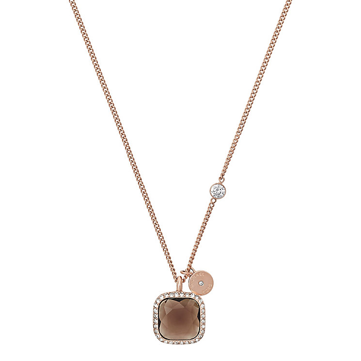 Michael Kors Rose Gold Tone Topaz Necklace - Product number 5073049